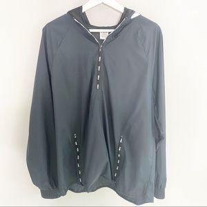 PINK Victoria Secret Black Windbreaker Jacket